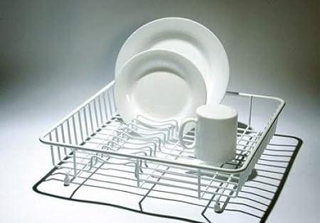 Delfinware /Égouttoir /à Vaisselle Standard Blanc M/étal 37 x 37 x 9.5 cm