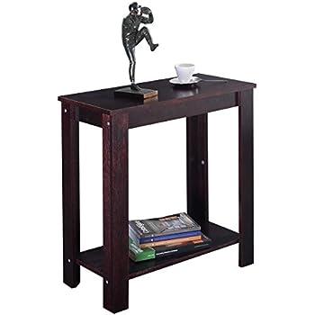Amazon.com: Casart End Table Coffee Sofa Wooden End Shelf Living ...