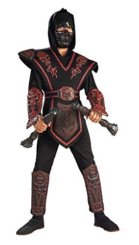 Red S (Red Skull Warrior Ninja Child Costume)