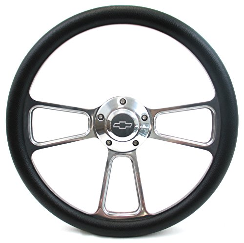 Forever Sharp Muscle Aluminum Steering Wheel w/ 69-94 Chevy GM Adapter Kit (Chevy Truck Steering Wheel)