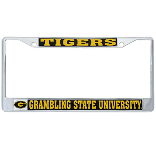 - Desert Cactus Grambling State University Tigers Metal License Plate Frame for Front Back of Car Officially Licensed (Mascot)