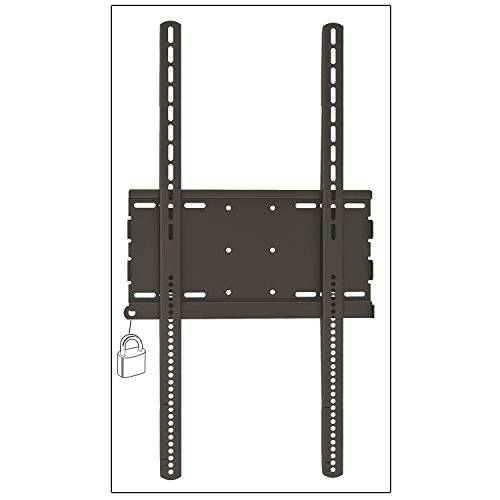 Master Mounts 3064F Vertical/Portrait Locakable Fixed/Flat TV Wall Mount, Commercial Use – Holds TVs as Signage, Menu Boards, and Creative Video Displays, Fits up to 70″ Screens (Black)