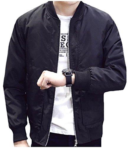 Tasche Primavera Autunno Outwear Patta Nero Mens Mogogo Con Utilità Salone Accogliente PxYcf4