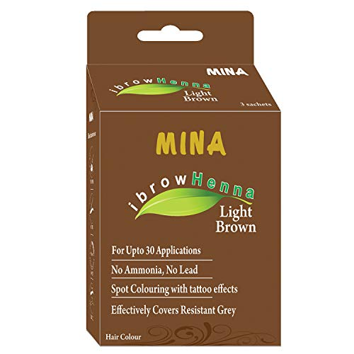 Mina Eyebrow Henna Light Brown Regular Pack & Tinting Kit For Brow Dye ()