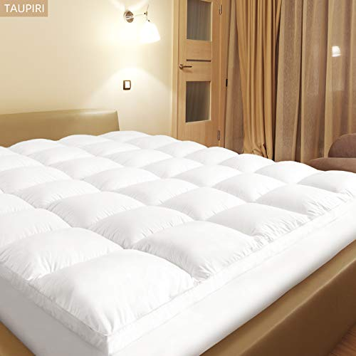 Queen Mattress Topper with Deep Pocket(8-21 Inches),Extra ...