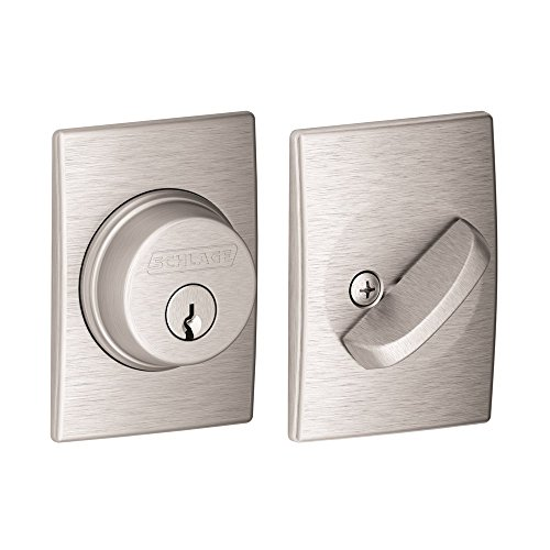 Satin Chrome Cylinder (Single Cylinder Deadbolt with Century Trim, Satin Chrome (B60 N CEN 626))