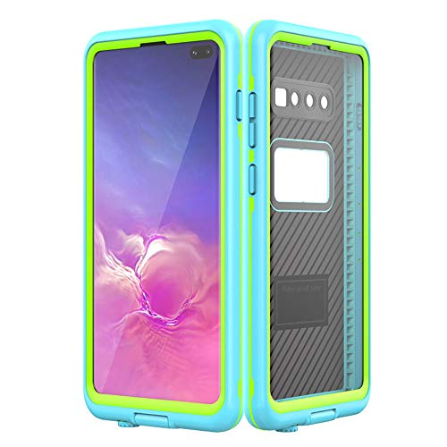 (Waterproof Case for Galaxy S10 Plus, IP68 Certificated Outdoor Full Sealed Heavy Duty Hybrid Armor Defender Shockproof Dustproof Anti Scratch Protective Underwater Cover with Screen Protector)