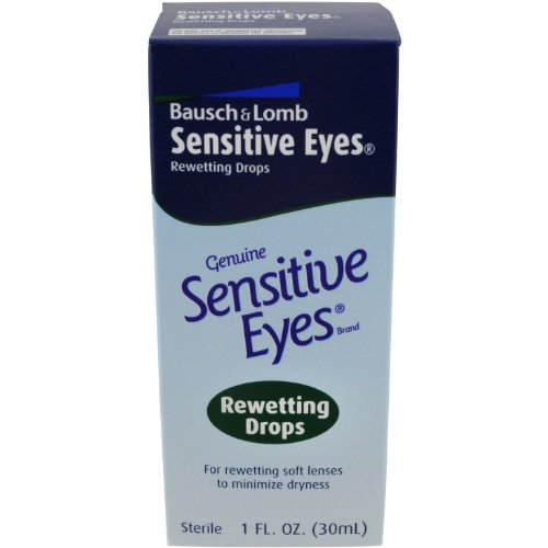 Bausch & Lomb Sensitive Eyes Rewetting Drops 1 oz (Lomb Eye)
