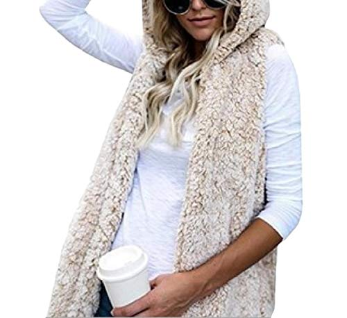 Outwear Size Waistcoat Beige Pockets Hoode MogogoWomen Plus Sleeveless Jacket wYq6TzE