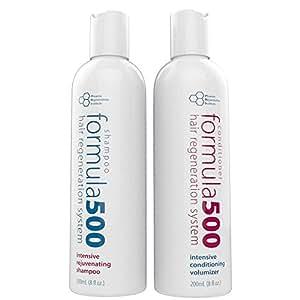 Phoenix Rejuvenation Institute Formula 500 Hair Growth Shampoo and Conditioner, 8 oz. Each