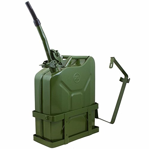 Thegood88 5 Gallon 20L Jerry Can Gas Diesel Fuel Steel Tank Green Holder mount NATO Style