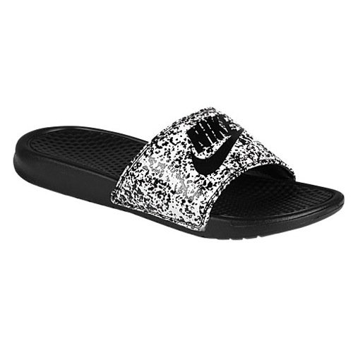 (Nike Mens Benassi JDI Slide, White, Black, 10 )