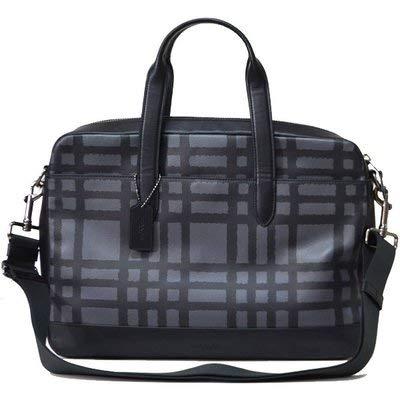 [コーチ] メンズ バッグ コーティングキャンバス レザー ジップ コミューター ビジネス ブリーフケース グラファイト×ブラック 11187 [並行輸入品]   B07PXQ62XT
