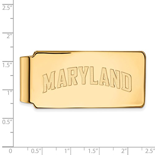 Gold Maryland Licensed LogoArt Money University Clip w 14K Sterling Official Collegiate Silver UM Plated Yellow of axSqWIpw7