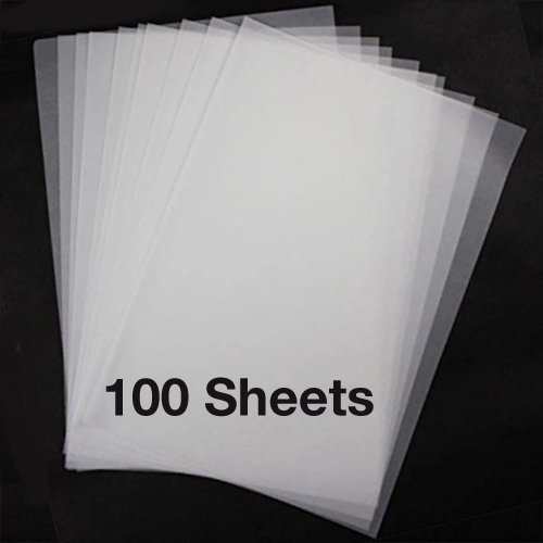 Onion Skin Tracing Paper 8.5'' x 11'' Letter Size - 100 Sheets - 10lb 37GSM 4.9M by Plantraco