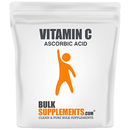 BulkSupplements.com Vitamin C Powder - Pure Ascorbic Acid (250 Grams - 8.8 oz - 333 Servings) Non-GMO - Gluten Free