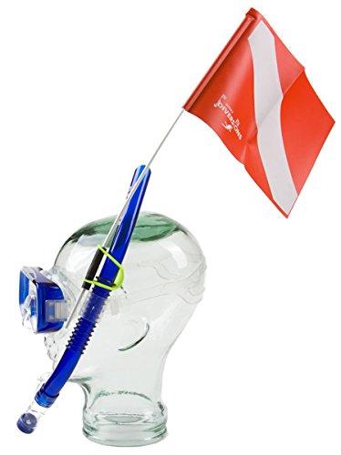 Trident Snorkeler's Snorkel Attached Dive Flag (Flag Snorkel)