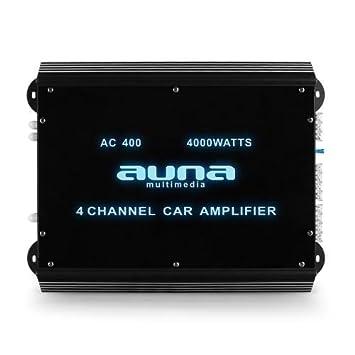 Auna W2-AC400 - amplificadores para coche (Negro, 50-250 Hz)