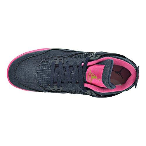 Nike Air Jordan 4 Retro Gg, Girls' Competition Running Shoes Drk Obsdn, Mtllc Gld-vvd Pnk-wh