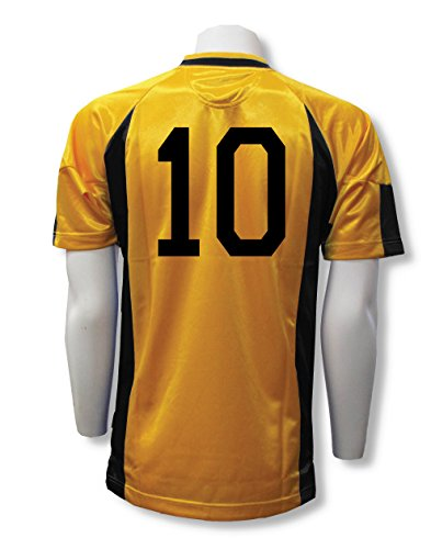 Imperial soccer jersey customized with your player number - size Adult XL - color Gold/Black ()