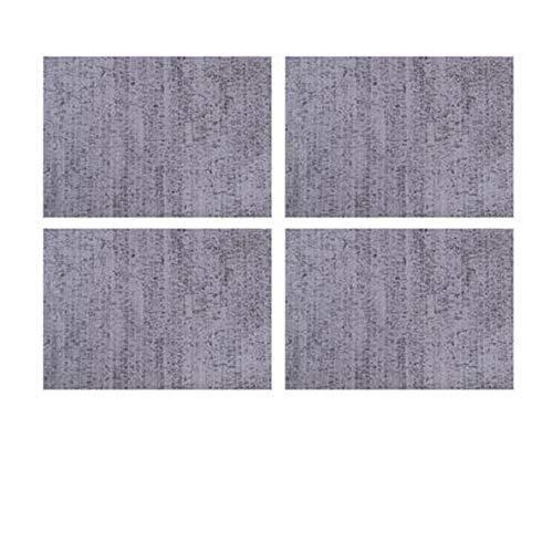 zxfdj Exquisite Insulation pad Table mat Anti-scalding Nordic Light Luxury Heat-Resistant Waterproof Oil-Proof Western mat Home Leather mat Beige 43x30cm 4 Pieces