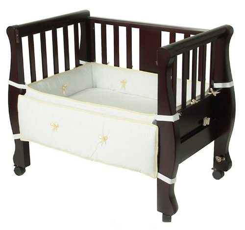 1.Arm's Reach Co-Sleeper Bassinet Sleigh Bed, Expresso - My Mom's Best