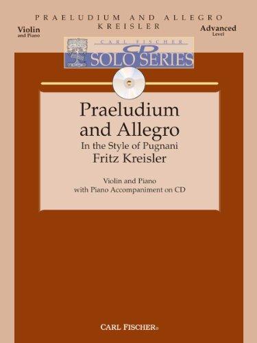 - Praeludium And Allegro - Violin & Piano - Advanced Level -BK/CD