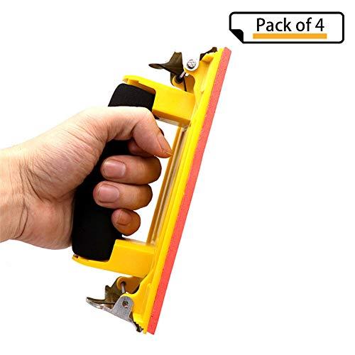 CGMJ Pack of 4 Sponge Handle Hand Sander Sand Paper Holder Clip by CGMJ (Image #7)