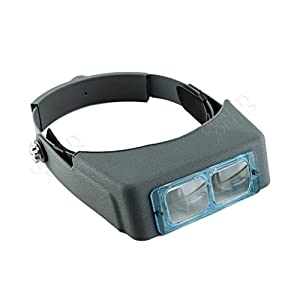 Quality Optics - Optical Glass Multi Lens Head Visor Magnifier Jewelers Loupe Binocular (3.5x)