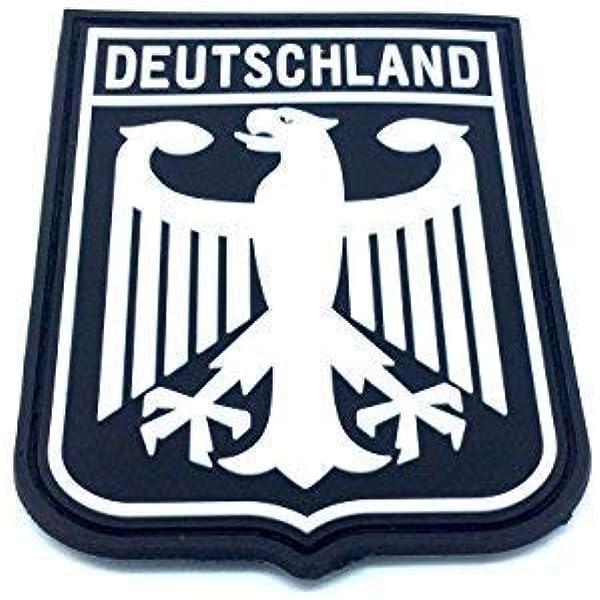 DEUTSCHLAND Escudo de armas imperial Eagle Negro Bandera de Alemania PVC Parche: Amazon.es: Deportes y aire libre