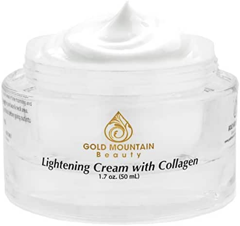 Collagen Skin Whitening Cream - Brightening Face Moisturizer, Lightening Cream for Dark Spots Corrector and Skin Bleaching Cream for Age Spot Remover