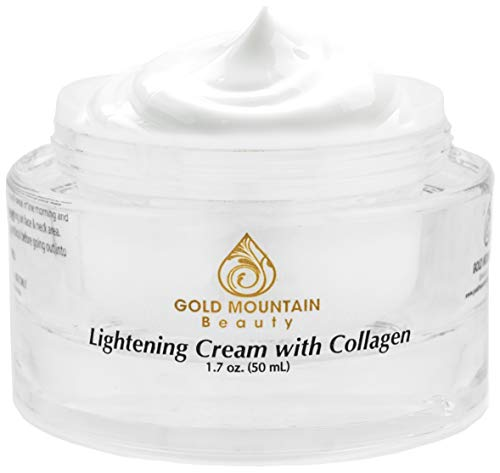 Collagen Skin Whitening Cream - Brightening Face Moisturizer, Lightening Cream for Dark Spots Corrector and Skin Bleaching Cream for Age Spot Remover (Best Skin Brightening Lotion)