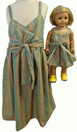 サイズ7と女の子、人形Matching Outfitsストライプサンドレス B00YIZATV8 B00YIZATV8, ゴウドチョウ:545a6e30 --- arvoreazul.com.br