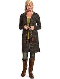 Women's Printed Rib Hacci Long Sleeve Duster - A4jc361-Nvy