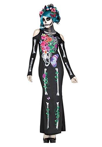 Fun World Women's Beautiful Bones Costume, Multi, Small/Medium