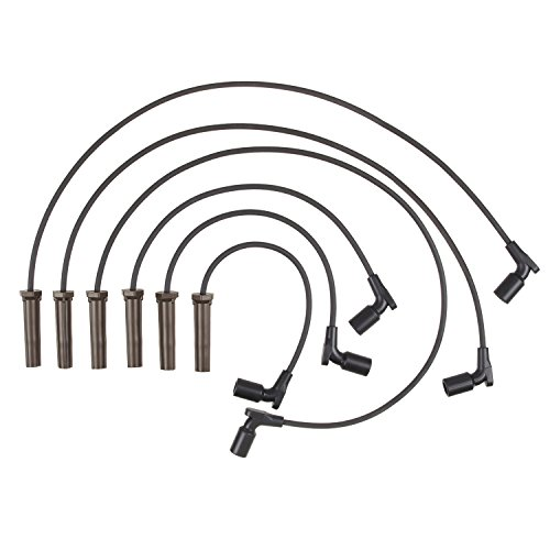 Accel 116085 ProConnect OEM Replacement Straight Boot Black Spark Plug Wires 6pc Set