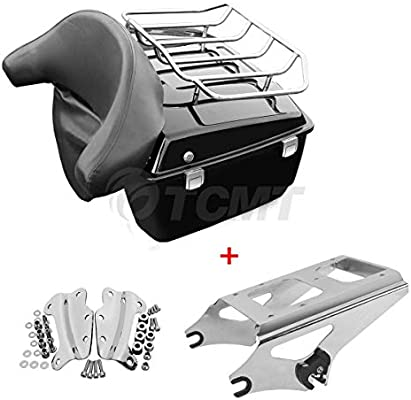 TCMT Razor Tour Pack Trunk /& Mounting Rack For Harley Touring Street Glide 09-13