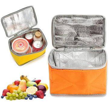 Outdoor Bag - 3.8l Oxford Cooler Insulated Picnic Bag For Outdoor Traveling Camping Hiking - 1PCs