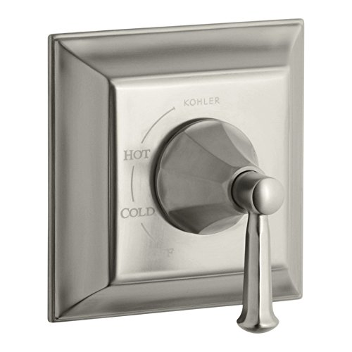 Kohler TS463-4S-BN Memoirs Stately Single Handle Rite-Temp Pressure Balanced Valve Trim Only with Metal Lever Handle, Brushed Nickel Bn Memoirs Single