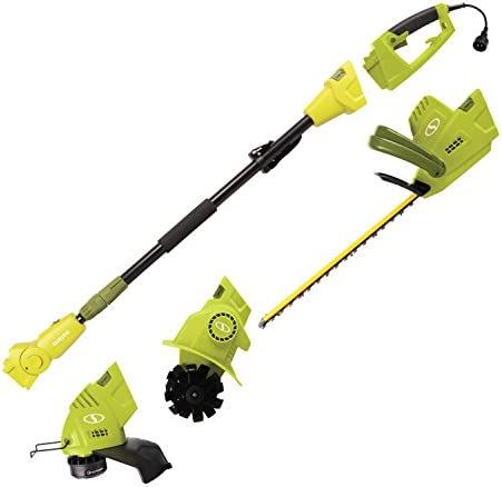 Sun Joe GTS4000E Lawn Garden Multi-Tool Care System, Green