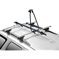 CyclingDeal Steel Car Roof Bike Bicycle Carrier Rack for 1 Bike Max Load 37 lbs - SUV Rooftop Mounted