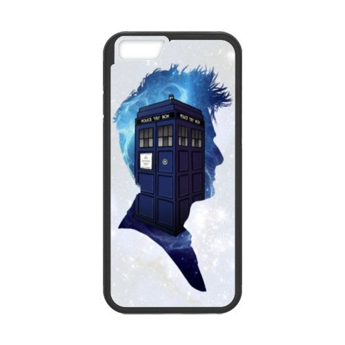 Fayruz- Personalized Protective Hard Textured Rubber Coated Cell Phone Case Cover Compatible with iPhone 6 & iPhone 6S - Doctor Who Tardis F-i5G767