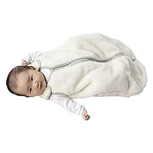 baby deedee Sleep Nest Teddy Baby Sleeping Bag, Ivory, Small (0-6 Months)