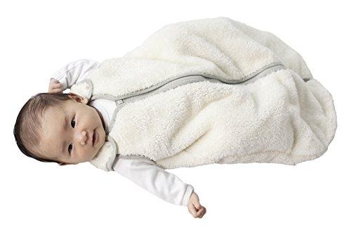 baby deedee Sleep Nest Teddy Baby Sleeping Bag, Ivory, Small (0-6 Months) from baby deedee