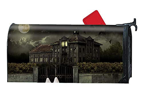 Michael Trollpoe Scary Halloween - Mailbox Makeover Cover - Decorative Wrap with Magnetism for Standard Mailbox]()