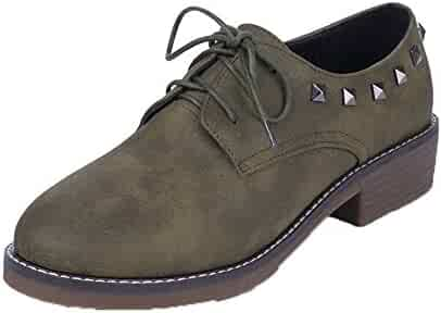6327770cff130 Shopping Green - Oxfords - Shoes - Women - Clothing, Shoes & Jewelry ...