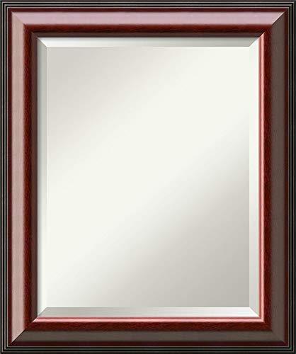 Framed Vanity Mirror | Bathroom Mirrors for Wall | Cambridge Mahogany Mirror -