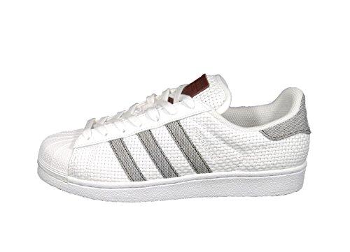 de para Hombre Blanco Blanco Tela adidas Zapatillas qSw7g56x6