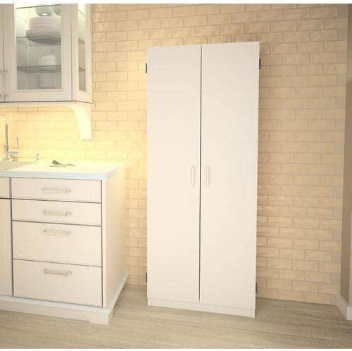 Amazon Com Double Pantry White Concealed Storage Behind Two Doors Kitchen Dining