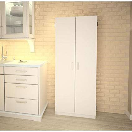 Marvelous Double Pantry White Concealed Storage Behind Two Doors Home Interior And Landscaping Fragforummapetitesourisinfo